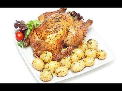 Курица запеченная с Картошкой в духовке.Очень вкусно.Челлендж.