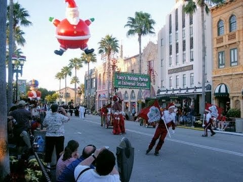 universal studios orlando florida christmas decorations and parade