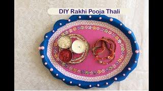 How to make a DIY Pooja Thali (Plate) | Raksha Bandhan Special