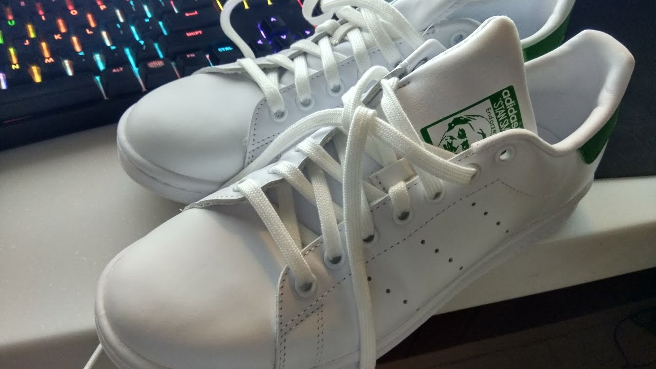 60efbcdc31cd Adidas Stan Smith White Green Color - YouTube