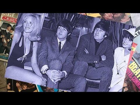 ♫  Beatles 1965 John Lennon and Paul McCartney with showgirls before rehearsals for television show