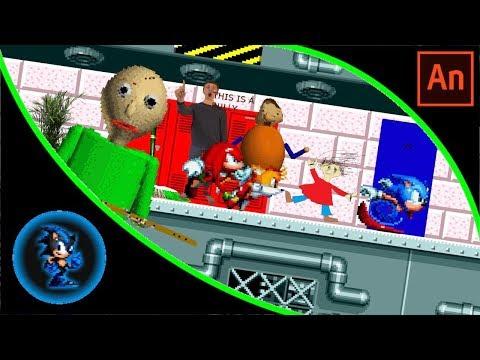 Team Sonic in Baldi's Basics (Sprite Animation)