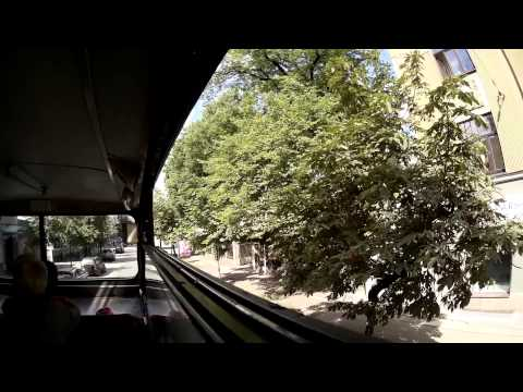 Riga City Tour   Video from bus