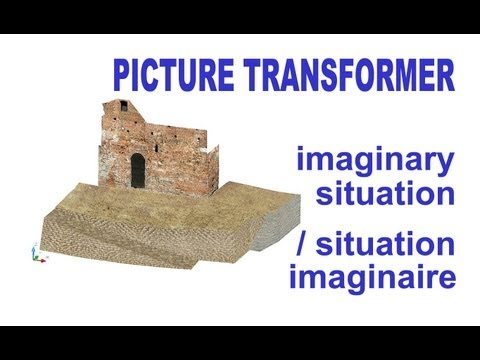 PICTURE TRANSFORMER AutoCAD 3D: imaginary situation / situation imaginaire