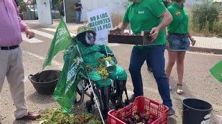 """Agricultores se concentran en Mérida por los bajos precios y la """"mala situación"""" del campo extr"""