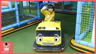 키즈카페 타요 꼬마버스 운전놀이 ♡ 어린이 타요버스 자동차 테마파크 놀이터 Indoor Playground Family Fun Play | 말이야와아이들 MariAndKids