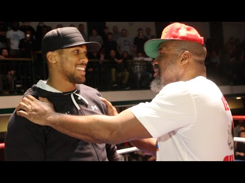 WHEN ANTHONY JOSHUA MET SHANNON BRIGGS! - LETS' GO CHAMP - YORK HALL ERUPTS AS HEAVYWEIGHT PAIR MEET