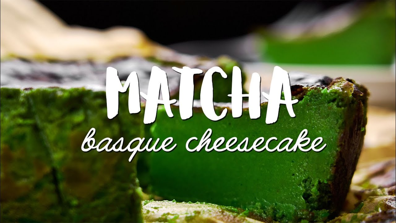 Matcha Basque Cheesecake Recipe Youtube