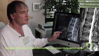 Bandscheibenvorfall, Rückenschmerzen, Hexenschuß erklärt vom Facharzt am MRT (Kernspintomografie)