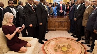 """Kellyanne Conway Calls Attacks Over Oval Office Photo """"Venomous"""""""