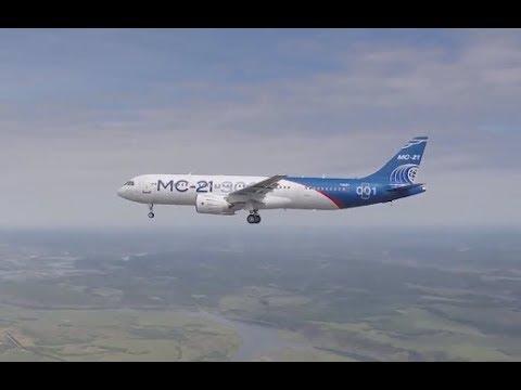 First flight of 'Irkut' MC-21-300 airliner (Eng. subtitles)