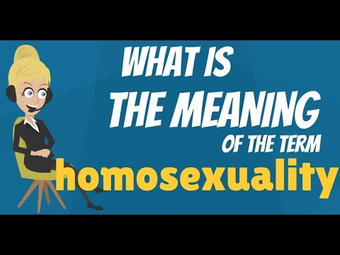 Homisexual definition
