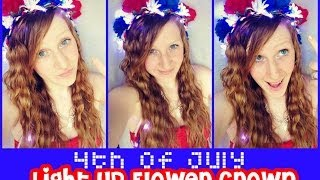 4th of July LIGHT UP Flower Crown Thumbnail