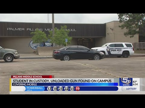 Student found with unloaded gun at Pillans Middle School