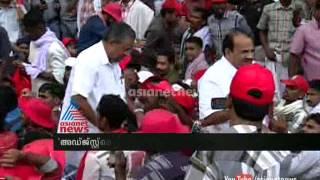Pinarayi against Pannyan Ravindran on 'adjustment strike' remark.