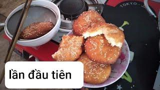 Học làm bánh tiêu & lần đầu tiên em làm