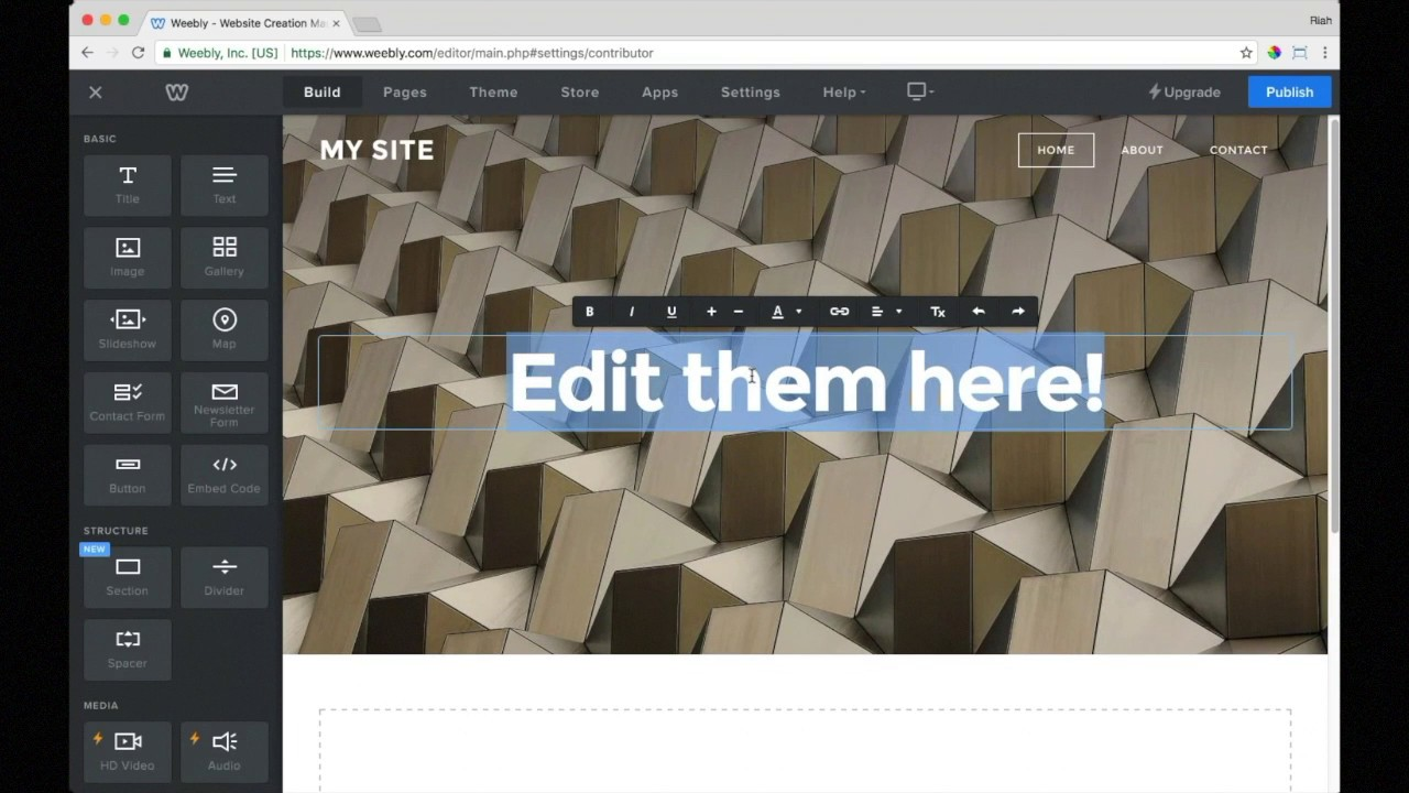 How to use the site builder - Porkbun Knowledge Base