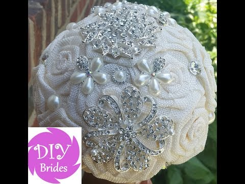 DIY Wedding Bridal Brooch Bouquet Kit Diana Burlap Roses