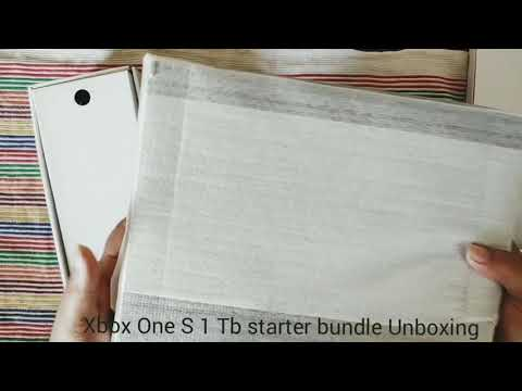 Xbox One S 1 Tb Starter Bundle Unboxing