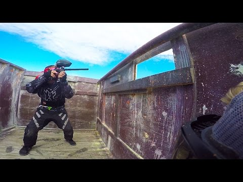 Intense Paintball Match