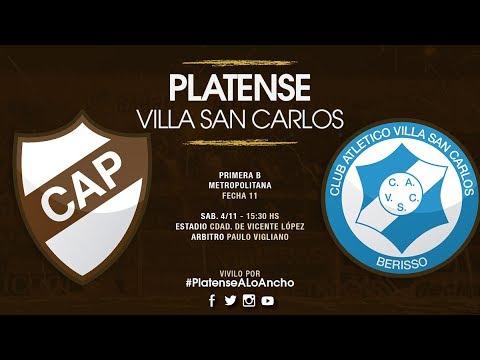 Platense - Villa San Carlos | TRANSMISIÓN EN VIVO | Fecha 11 | Campeonato 2017/2018