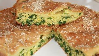 Заливной пирог с зеленым луком и яйцом. Очень вкусный.