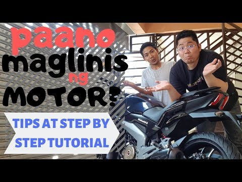 Pano maglinis ng motor : Tips and Tricks Step by step tutorial : motorcycle washing