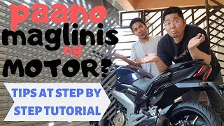 Pano maglinis ng motor : Tips and Tricks Step by step tutorial : motorcycle washing