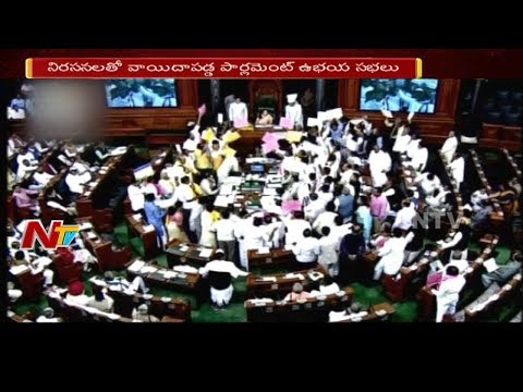 Telugu State MPs Protest Continues in Parliament Budget Sessions || NTV