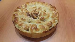 Как приготовить Пирог Хризантема#выпечка#тесто#пирог#рецепты#кулинария