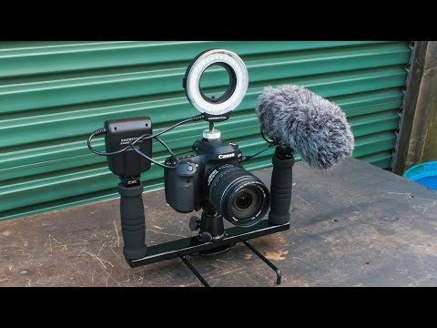 Homemade twin grip camera stabilizer rig