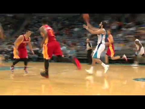 Davis Oop | Rockets vs Hornets  | NBA 2012-13 Season Jan 9, 2013