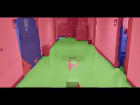 Indoor Semantic Segmentation (floor/doors/obstacles) - first attempt
