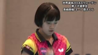 【ダイジェスト】世界卓球2018 女子日本代表第1次選考会 長﨑美柚vs森さくら