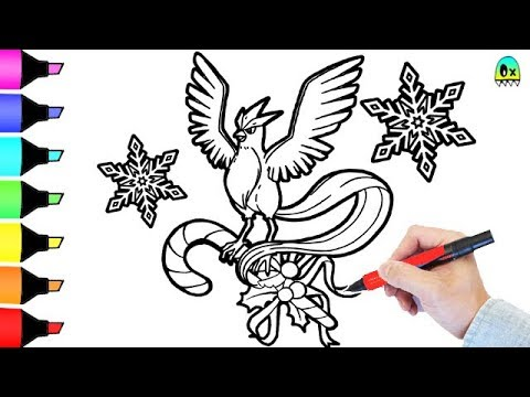 Pokemon Coloring Book Pages Articuno Christmas I Fun Colouring Video For  Kids