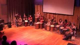 CalArts Djembe Ensemble at Cameron Tummel