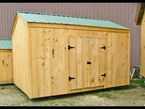 """""""The New Yorker"""" - Best Selling General Storage Shed - Low Cost - 8X8 to 10X20 - DIY Pre Cut Kit"""