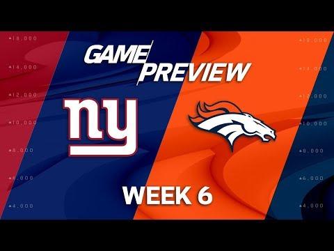 New York Giants vs. Denver Broncos | Week 6 Game Preview | NFL Playbook
