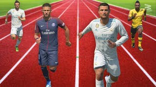 FIFA 18 Speed Test | Fastest Players In FIFA Without The Ball