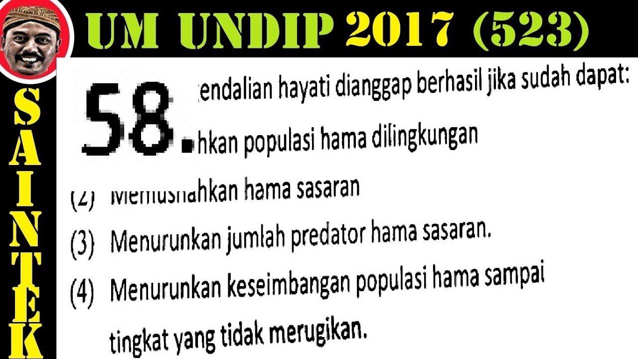 Pembahasan Soal Um UNDIP 2017 Saintek Kode 532, Biologi