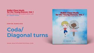 Music for Coda or Diagonal Turns for Children's Ballet Class | by Søren Bebe