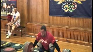 Клоков Дмитрий  рывок - 205 кг
