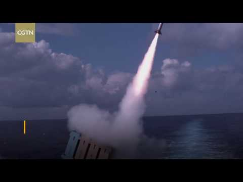 Israel's military deploys its Iron Dome rocket defense system aboard a ship