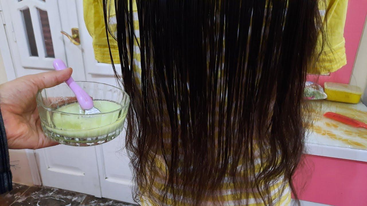 وصفة للشعر شديد الجفاف الخشن الهايش خلطة سريه لتنعيم وفرد الشعر من أول استخدام👌✔🧫