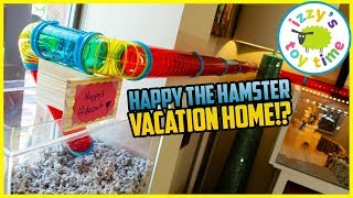 HAMSTER VACATION HOUSE?! Happy the Hamster NEW UPGRADE!