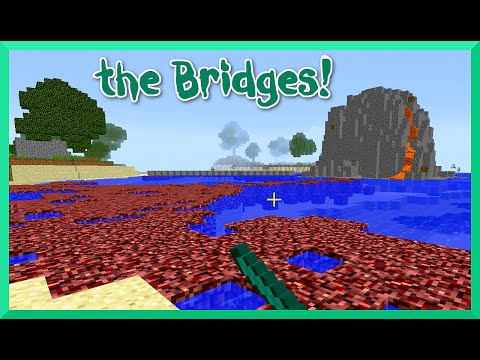 Minecraft - the Bridges GamePlay with Gamer Chad Alan - Volcanic Islands Again
