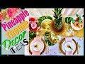 Pineapple Decor Party Ideas | Tropical Hawaiian Pineapple Table