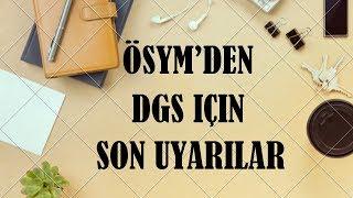Ösym39;den 2019 DGS39;ye Gireceklere Son Uyarılar