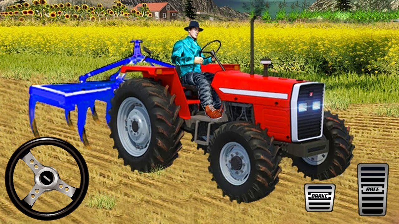 Real Tractor Driving Games 2019 New Offroad Drive – Android Gameplay HD