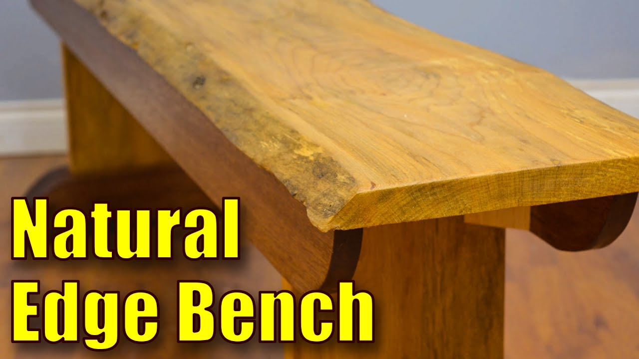 How to Make a Live Edge Bench | Natural Edge Bench - YouTube